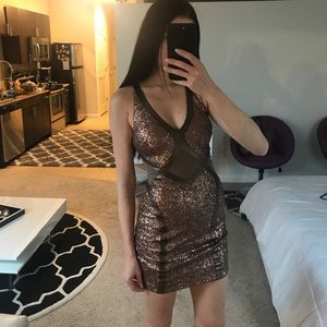 Bebe sequin party dress. Size Xs.